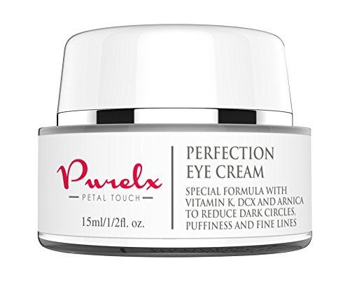 # 1 Crème contour des yeux pour les cernes et les poches - Nouvelle formule avec de la vitamine K, DCX, Arnica squalane et l'acide hyaluronique réduit les poches, les rides et ridules autour des yeux et Supprime les cernes - USA établissements certifiés -