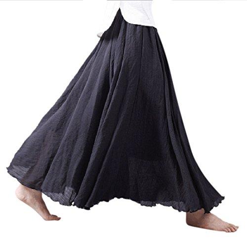 long black linen dress - 5