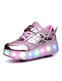 K-SEVEN Boys Girls Roller Skate Shoes with Recharging Light Two Wheels Sport Sneaker for Kids Youth