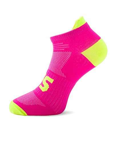 SLS3 Running Socks -Anti Blister - Arch Support S Pink