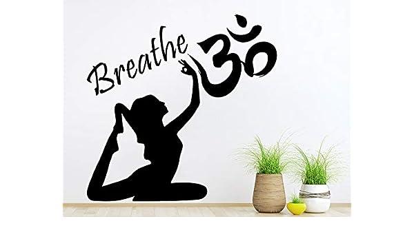 42x42 cm Buda Yoga Mujer Tatuajes de Pared Cita Respira ...
