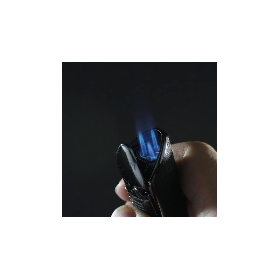 Scorch Torch Triple Jet Flame Butane Cigarette Torch Lighter with Cigar Punch Attachment