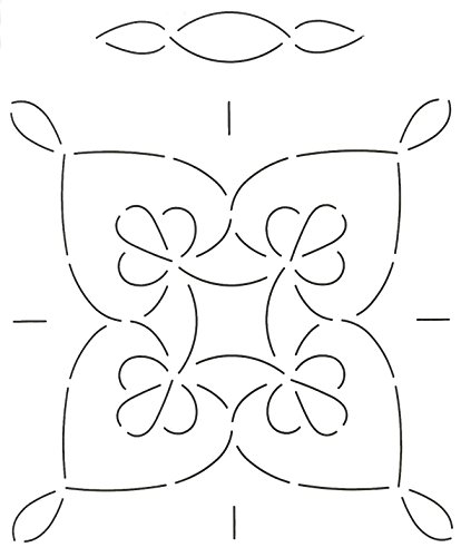Quilting Creations Double Wedding Ring Quilt Stencil, 11'' by Quilting Creations