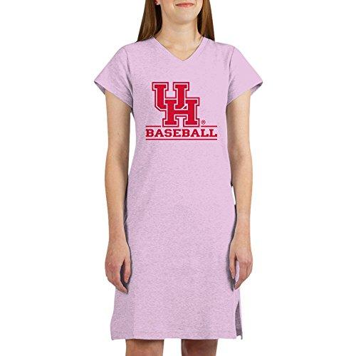 CafePress Houston Cougar Baseball Women's Nightshirt, Soft Long Pajama Shirt, Cotton PJs/Pyjamas Pink ()
