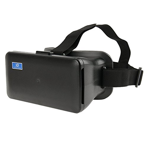 NJ-1688C DIY 3D Cardboard Head Mount Plastic Virtual Reality 3D Video Glasses for iPhone 6 Plus / Samsung Galaxy Note 4 / 3 etc. 5.5 inch - 6.3 inch Android iOS Smartphone