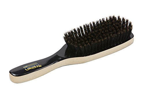 Torino Pro #210 100% Pure Boar Bristle Paddle Hair Brush Natural Boar Bristles - Naturally Moisturize, Condition, Reduce Frizz, Exfoliate,Promote Circulation of Hair Roots Great 360 Wave Brush