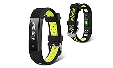 Amazon.com: Jarv Action Wireless Activity Tracker Smartwatch Fitness Watch Sweatproof Sports Band Bluetooth Sleep Bracelet w/Heart Rate Monitor, ...