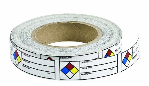 Nfpa Hazardous Materials - Brady 102844 Paper Label B235 1x3 Right-To-Know Label W/NFPA Diamond ,  1