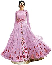 Henith Collection Indian/Pakistani Style Designer Embroidered Long Anarkali Suit with Matching Dupatta for Wom