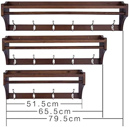 BZM-ZM コートラック多機能は、コートラックをwallmounted な木製の棚壁フックラックをwallmounted