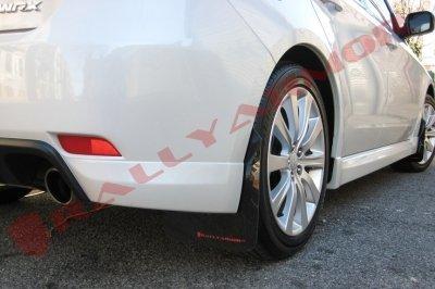(Rally Armor MF6-UR-BLK/RD Black, Red Mud Flap with Logo (08-10 WRX (Hatch & Sedan) / 08-11 Subaru 2.5i UR) )