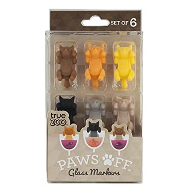 Paws Off Glass Markers (Set of 6) by TrueZoo