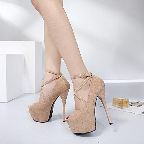 GTVERNH-Abricot 4.5Cm Chaussures Boîte De Nuit Hentian Talons De Chaussures Montantes Super Fines Sandales Avec Le Stade Modèles Sur Le Podium Des Chaussures Des Chaussures Forty 2UtBYoI2