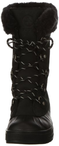 Aigle Cabestan P4749 - Botas de nieve de cuero nobuck para mujer Negro