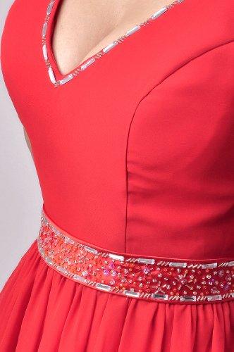 Pink Evening V Natrual A Dress Straps neck line Long Chiffon Baby Upgq14