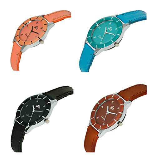 41XiyHVLnpL. SS500  - Acnos Analogue Multicolour Dial Women's Watch - Pack of 4