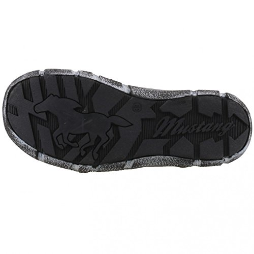 Mustang 1110307 2 - Zapatos de cordones de Material Sintético para mujer gris Gris (Grau 2)
