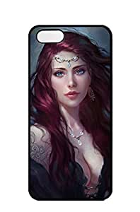 AWU DIYiphone 5/5s case,Sister of the Night¡ê? Excellent portrait with stunning details, especially that hair [Non-Slip] [Exact-Fit] Case Slim **NEW** [Fit Series] [Thin Fit] [Smooth Black] Hard Case - ECO-Friendly Packaging - Slim Case for iphone 5 / 5s,black