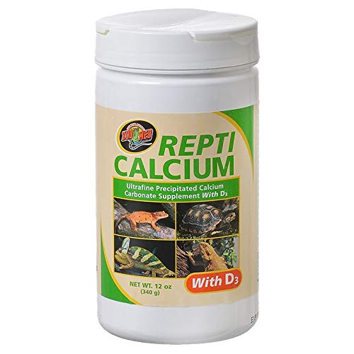 Zoo Med Reptile Calcium with Vitamin D3, 12-Ounce (Foods Oyster Shell Calcium)