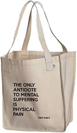 The Only Antidote Is Physical Pain (Karl Marx) Organic Cotton Market Tote Bag