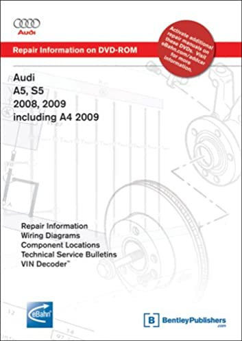audi a5 s5 2008 2009 a4 2009 repair manual on dvd rom windows rh amazon com audi a5 workshop manual audi a5 workshop manual free download