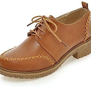 Njx/femme Chaussures Talon bas Confort/Bout Rond Oxfords Robe/décontracté Noir/marron/gris/beige MJKIK