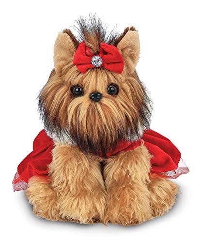 Bearington Yuletide Yorkie Holiday Plush Stuffed Animal Dog, 13 inches (Dog That Looks Like A Big Yorkie)