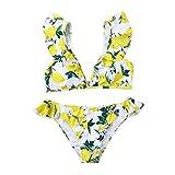 Women Leopard Swimsuit 2019New, Girl Push-Up Pad Bikini One-Piece-Hight Waist Swimwear-Monokinis Bathing Beachwear (Brown, S)