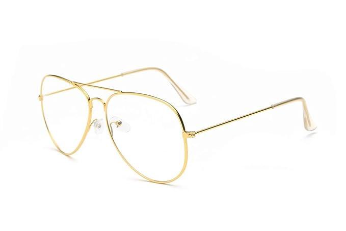 ZODOF Gafas de Sol Lentes Transparentes Gafas Metal Espectáculo Marco Miopía Gafas para Mujer y Hombre
