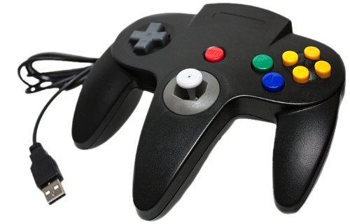 2 opinioni per Joystick Nintendo 64 N64 PC e USB compatibile con Mac Nero