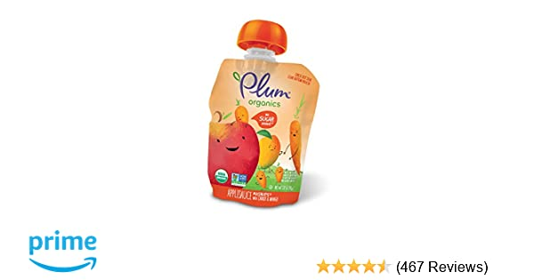 Plum Organics Mashups, Organic Kids Applesauce, Carrot & Mango, 3.17 Oz, 4 count (Pack of 6)