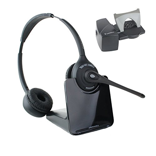 Plantronics CS520 Binaural Wireless Office Headset With Lifter (Certified - Bundle Hl10 Lifter