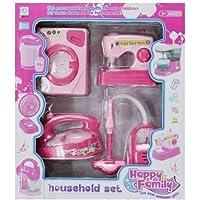 Munchkin Land Household Set - Iron, Washine Machine, Vacuum Cleaner, Sewing Machine - Set of 4