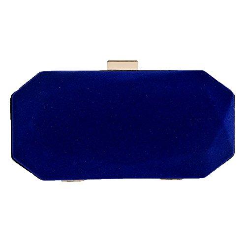 Castagna Da Clutch Sera Blue Scamosciata Signora Da Sera D'acqua Borsa Pelle RqITWZnPgZ