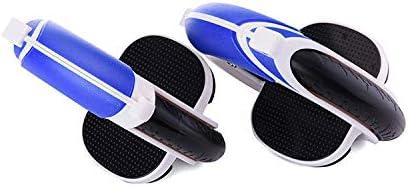 一輪、スプリットローラーバランススケートボード、ティーンエイジャー、大人に適した軽量で柔軟なローラー 青