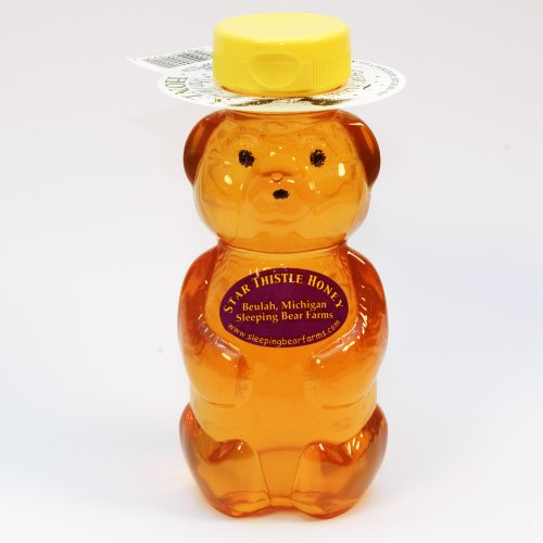 Star Thistle Honey Bear - Pure Michigan Honey, Unpasteurized, Unblended, No Additives - 12oz