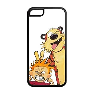LJF phone case Fashion Calvin and Hobbes Personalized iphone 4/4s Rubber Silicone Case Cover