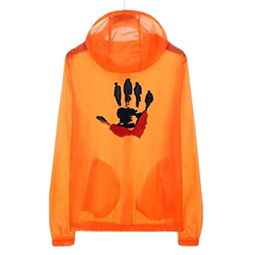 George Jimmy Waterproof Luminous Sun Protective Cool Hand Clothing Cycling Climbing Long Sleeve Shirts-Orange by George Jimmy