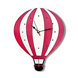 HSRG Silent Wall Clock Battery Operated Non-Ticking Indoor/Kitchen Clock Quiet Watch For Kids/Girls/Nursery Room