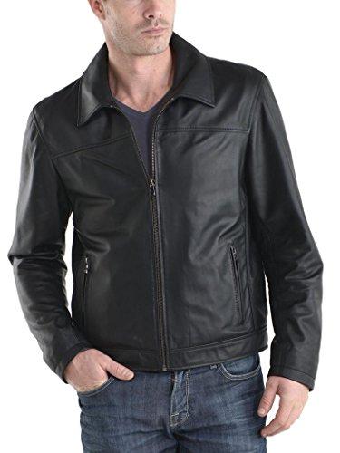 Auk055 Giacche Outwear Moto In Black Pelle Uomo Slim Giacca Biker Cappotto Da Fit qAxwT4PFOn