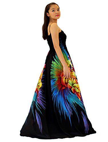 MayriDress Women Black Summer Dress Maxi Plus Size Graduation Chiffon Gift Long (Large, Black)