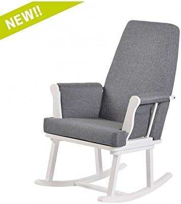 Kub Haldon Nursing Rocking Chair (White)  sc 1 st  Amazon.co.uk & Baby: Rocking Chairs