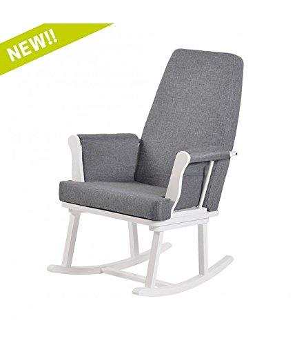 Kub Haldon Nursing Rocking Chair (White)