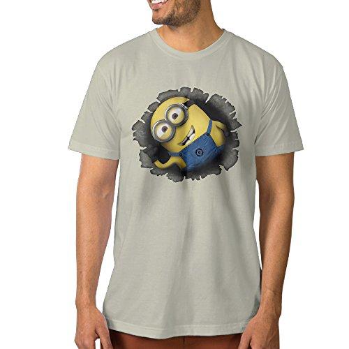PTCYM Cartoon Minion Fictional Creatures Personalized Men's T-shirt XL Natural