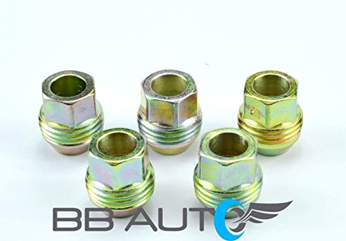 BB Auto Set of 5 New Aluminum Wheel Lug Nuts 12mm x 1.5 with outside threads for lug nut covers For 82-92 Pontiac Firebird, Trans Am, GTA, Formula, Chevrolet Camaro, z28, IROC, RS