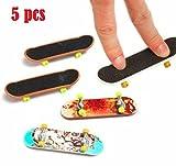 Rubyshop 5pcs Pack Finger Board Deck Truck Skateboard Boy Child Toy by
