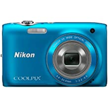 Nikon COOLPIX S3100 14 MP Digital Camera with 5x NIKKOR Wide-Angle Optical Zoom Lens and 2.7-Inch LCD (Blue)