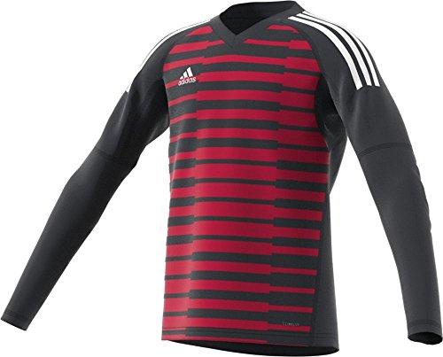 (adidas AdiPro 18 GK Youth Long Sleeve Jersey (Small, Dark Grey/Unity Pink/White))
