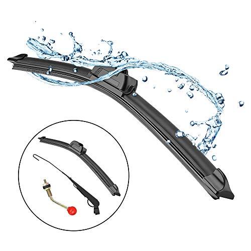 UTV Hand Operated Windshield Wiper Manual Windshield Wiper Kit for Polaris Ranger RZR Can Am Kawasaki Honda Pioneer Golf Cart Manual Windshield Wiper Blades Assembly by -