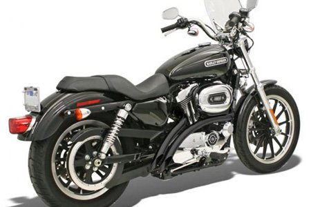 Bassani Y-pipe - Bassani Manufacturing Black Radial Sweepers Exhaust